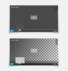 Video player interface template trendy vector