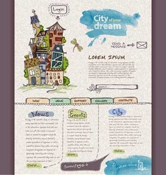 Website design template City vector image