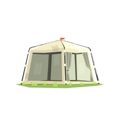 White sportive camping tent vector