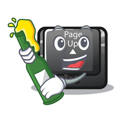 With beer button page up keyboard mascot vector