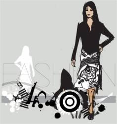 catwalk model vector image vector image