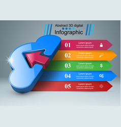 dowvnload cloud arrows icon business vector image vector image