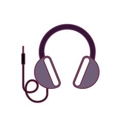 headphone audio device vector image