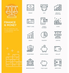 Modern Line icon design Concept of Banking vector image