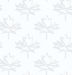 Quilling paper countered maple leaves with veins vector