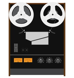 Reel to reel tape recorder vector image