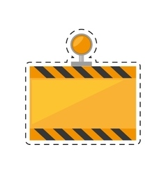 under constuction board light cut line vector image