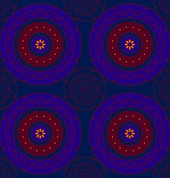 circle pattern indian blue vector image