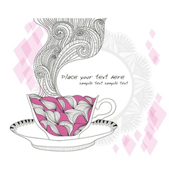 Coffe or tea cup background vector