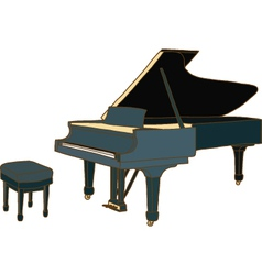 Piano with chair vector image
