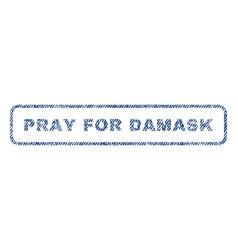 Pray for damask textile stamp vector