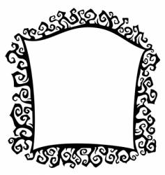 thorn frame vector image vector image