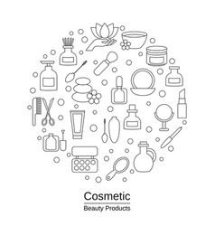 beauty and makeup concept beauty and makeup vector image vector image