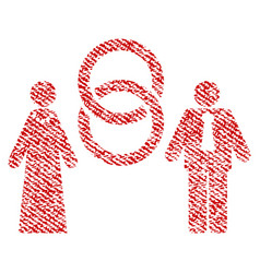marriage persons fabric textured icon vector image vector image