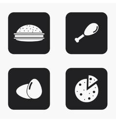 modern food icons set vector image vector image