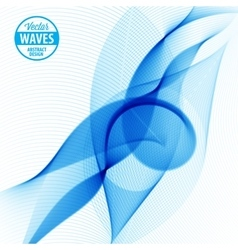 Abstract smooth color wave vector image