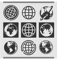 Set of globes vector image vector image