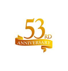 53 year ribbon anniversary vector image