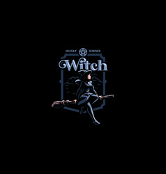 A witch in a witchs hat vector