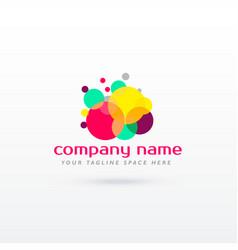 abstract circle colorful logo concept design vector image