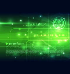 abstract hi-tech background in green color vector image