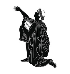 Ancient greek musician vector