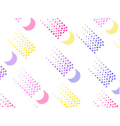 background with a flat geometric design with dots vector image vector image
