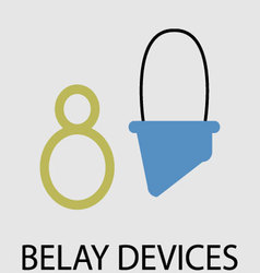 Belay devices icon flat design vector
