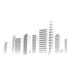 building and city isolated on white background vector image