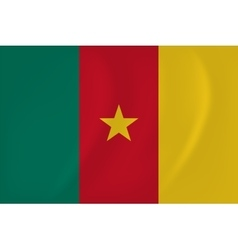 Cameroon waving flag vector image