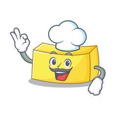 Chef butter character cartoon style vector