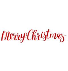christmas calligraphic lettering vector image