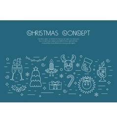 Christmas isolated white concept with traditional vector image