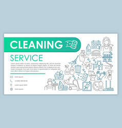 Cleaning service web banner business card vector