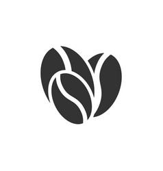 coffee bean icon graphic design template vector image