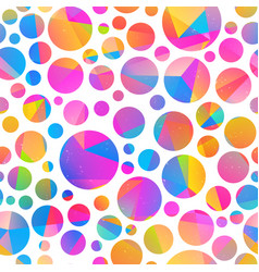 colored circle seamless pattern vector image