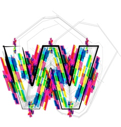 Colorful Font - Letter w vector image