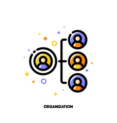 company organizational structure icon hierarchy vector image