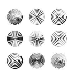 Concentric circles abstract geometric vector