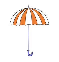 cute cartoon umbrella vector image