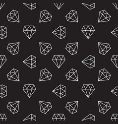 dark seamless pattern with diamonds vector image