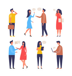 dialogue people communication characters web chat vector image