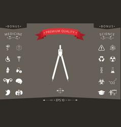 drawing compass symbol vector image