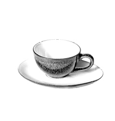 Drawn Sketch painting coffee cup vector