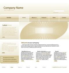 Editable website template vector