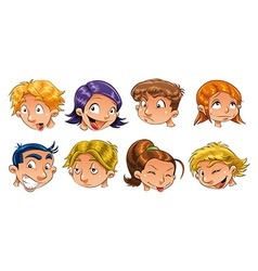 Expressions of children vector image