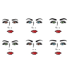 Eyebrow set vector image