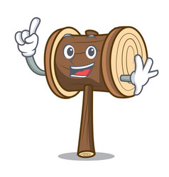 Finger mallet mascot cartoon style vector