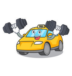 fitness taxi character cartoon style vector image