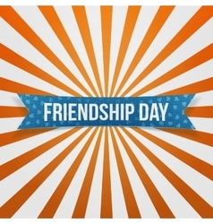 Friendship Day curved festive Banner vector image